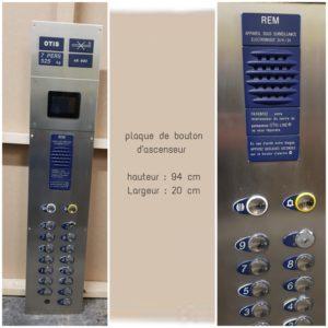 plaque d'ascenseur
