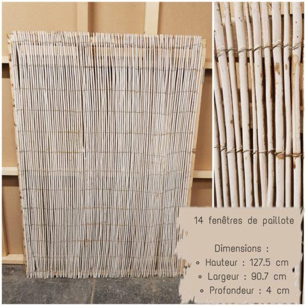 fenêtre de paillote en bambou