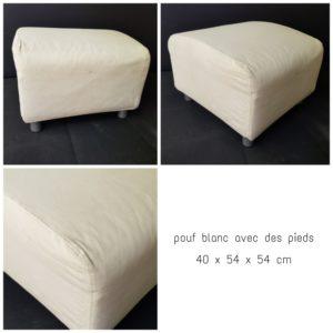 fauteuil tissu blanc